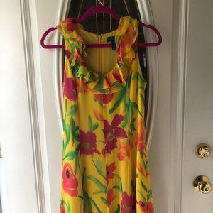 Ralph Lauren Silk Dress with Lining Sz. 4